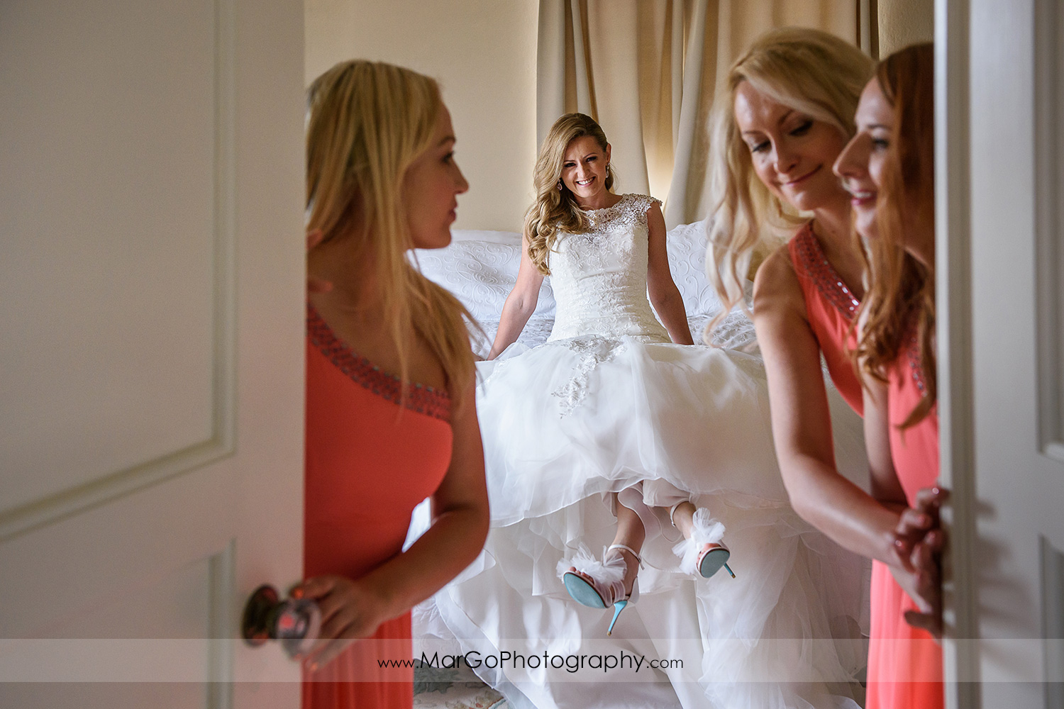 bride and bridesmaids at Berkeley City Club