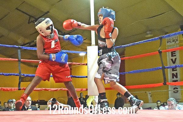Bout 4 Rafael DeJesus(Red Gloves), Strongstyle/ Old School -vs- Darius Sitgraves(Blue Gloves), Bar None, 85 lbs, Pee Wee