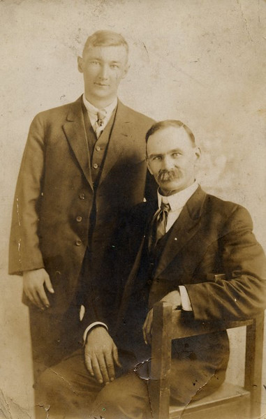 James L Dodrill and his son Dillard.  James is George W Dodrill's brother.