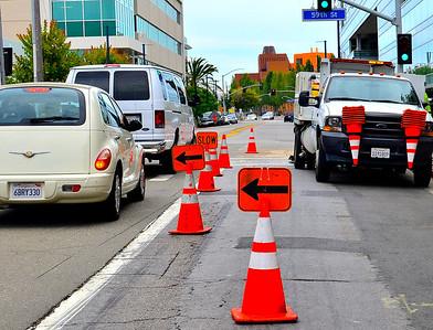 Lane Closures, 59th & Hollis