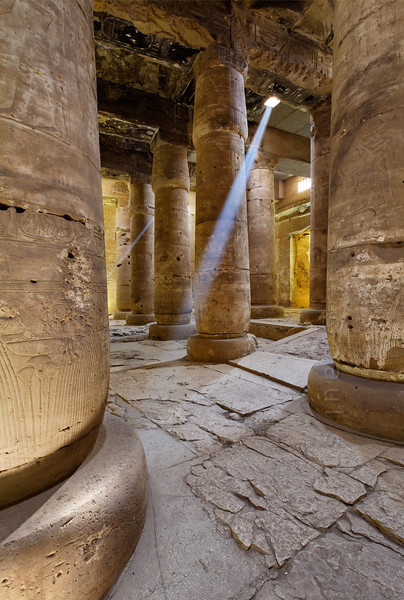 [Egypt 29860] 'Second Hypostyle Hall of Seti I Temple at Abydos.'