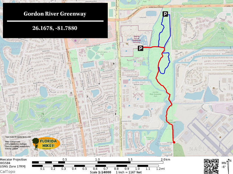 Gordon River Greenway Trail Map