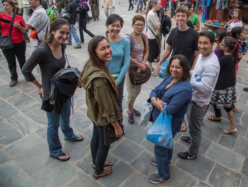 Christina Jacovides, Laura Houk, Amy Lee, Dayna Minatodani, Shrilekiha, Tom Rogers, Reid Sakamoto at Boudinha.