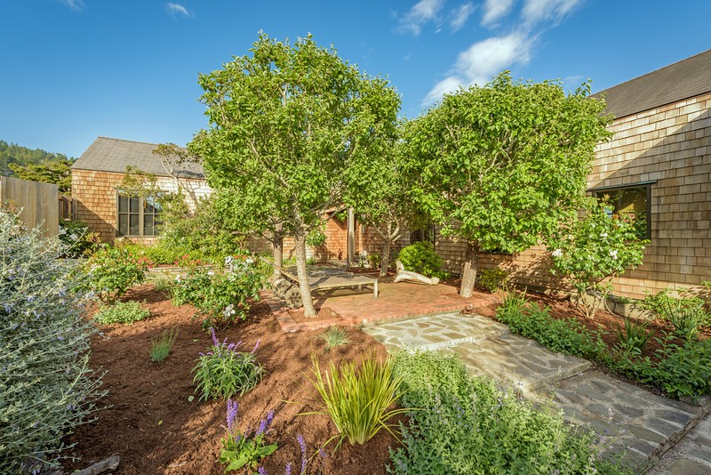Front Garden with Apple Trees