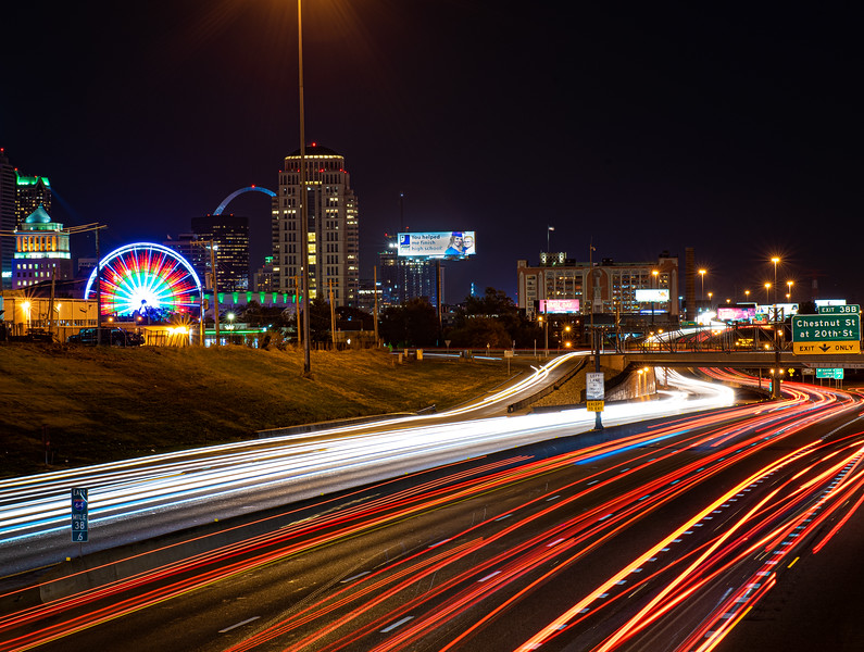 Downtown Light Trails