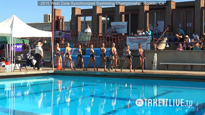 E10 - Jr/Sr Combo Competition - 2015 Western Zone Synchronized Swimming Championships - Livesynchro Powered by: Takeitlive.tv