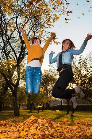 Marlene und Nina im Herbst