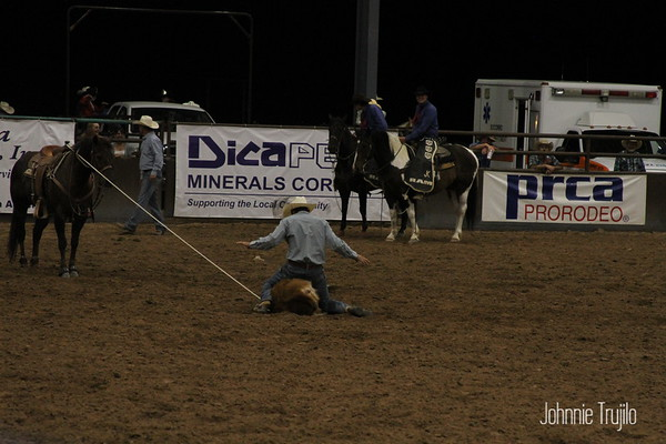 2018 PRCA Rodeo Steer Roping Friday Night