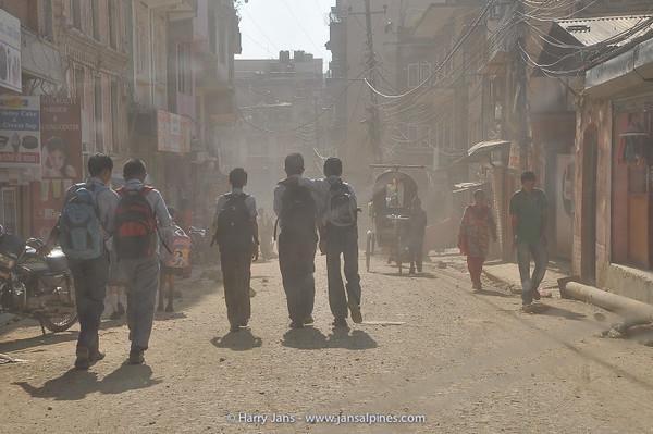 dust everywhere in Kathmandu