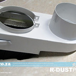SKU: R-DUST/100, Φ100mm Spindle Dust Hood with Replaceable Brushes and Φ100mm Hose Connector