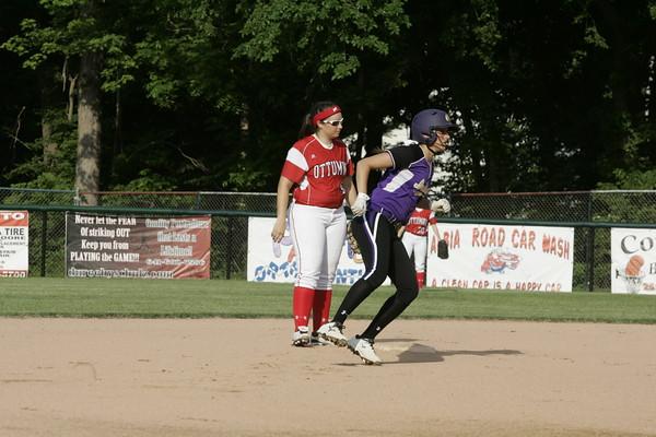 Ottumwa High School Varsity Softball Game Action 06052015