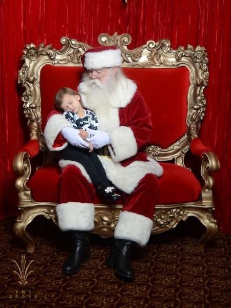 Snoozing with Santa