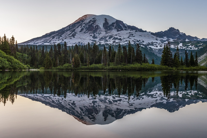 Mt. Rainier Bench Pure Reflection