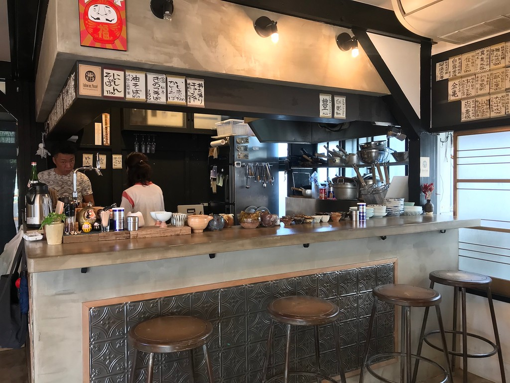 The interior of Soba Bar Fukuya.