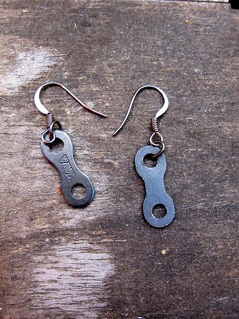 Jewelry/art with bike parts