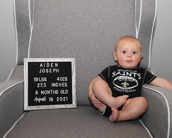 08-19-21 Aiden's 6 month pics!