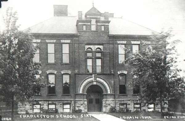 . Historic photo provided by Jim Smith <br> Charleston Elementary School opened in 1895 at Hamilton and West 6th streets in Lorain. It was the only school destroyed by a 1924 tornado that destroyed many buildings in Lorain.
