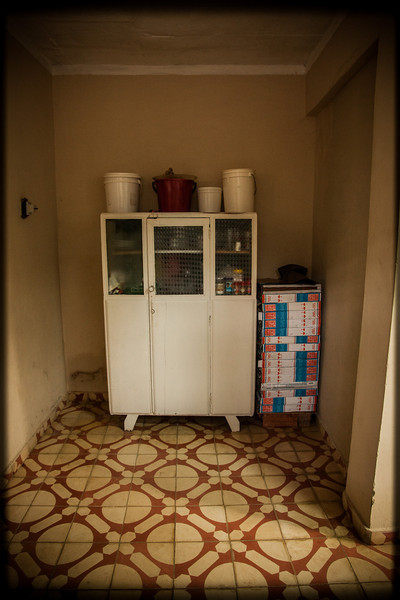 The cupboard at the trinidad home