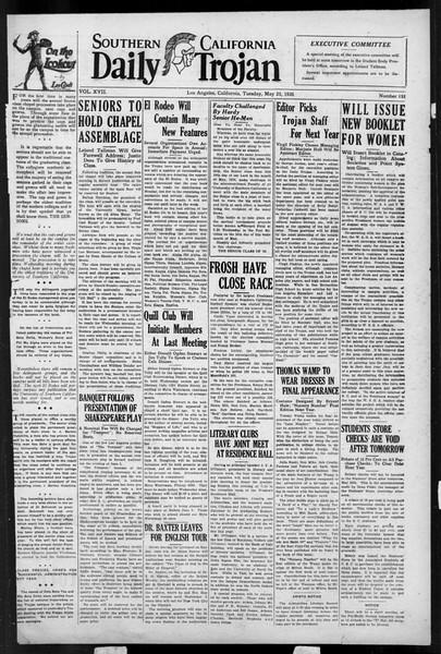 Daily Trojan, Vol. 17, No. 151, May 25, 1926