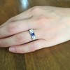 .40ctw 3-Stone Sapphire and Diamond Band by Relais 19