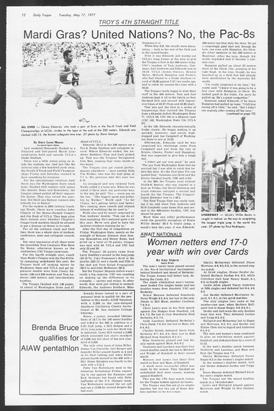 Daily Trojan, Vol. 71, No. 61, May 17, 1977