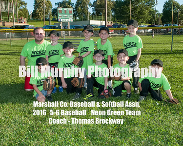 2016 5-6 Baseball  Neon Green Team, June 7, 2016.