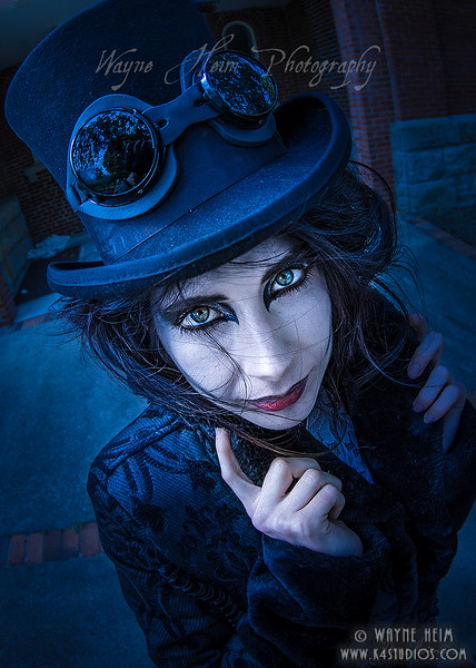 Lady in Blue Light   Photography by Wayne Heim