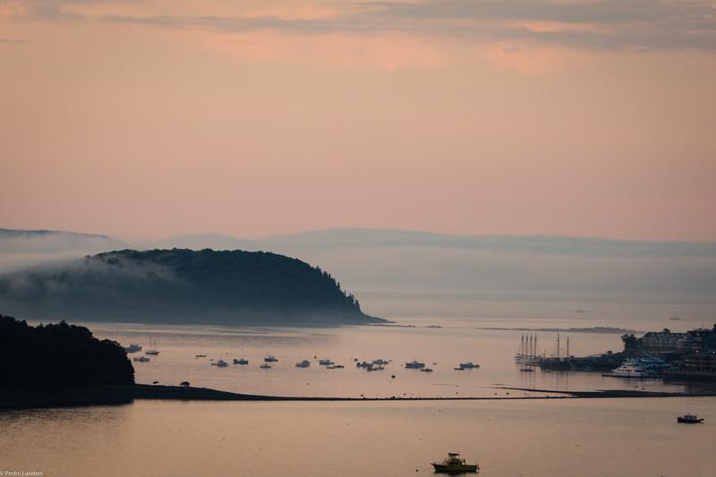 Bar Harbor as the Mist Recedes