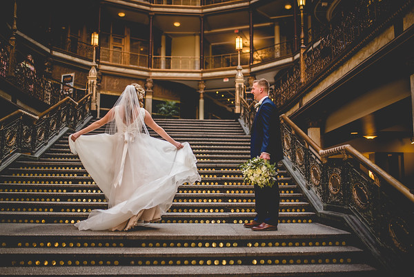 Mr. & Mrs. Henderson l Cleveland Arcade Wedding