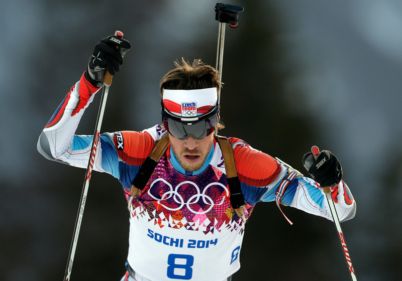 . Czech Republic\'s Jaroslav Soukup competes during the men\'s biathlon 20k individual race, at the 2014 Winter Olympics, Thursday, Feb. 13, 2014, in Krasnaya Polyana, Russia. (AP Photo/Felipe Dana)