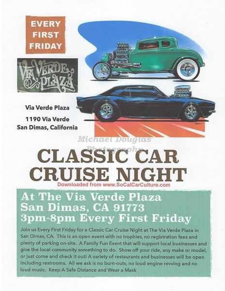 Classic Car Show Via Verde Plaza in San Dimas