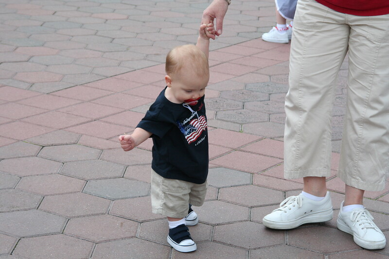 wanting so much to walk on his own!