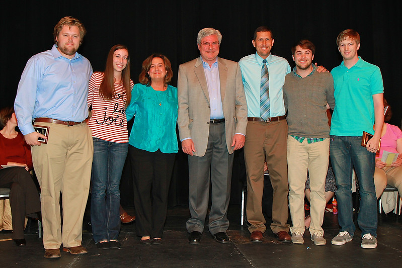Student Leadership, Service and Volunteer Recognition dimensions service and awards ceremony; April 2012. Pamela Darnell Christian Mission Award: Kyle Wilkinson, Bailey Jennings,  Spencer Graybeal, and Cameron Mitchell