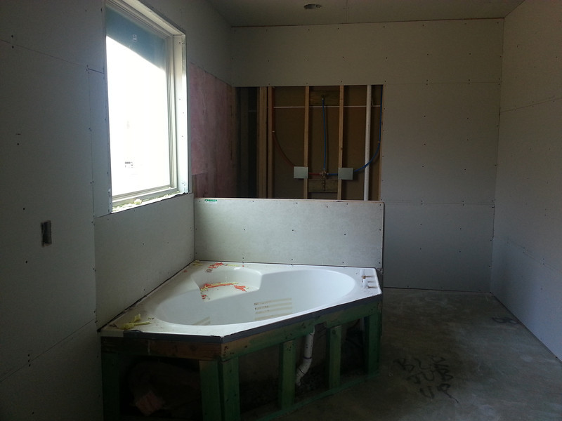 master bath, shower not started yet.