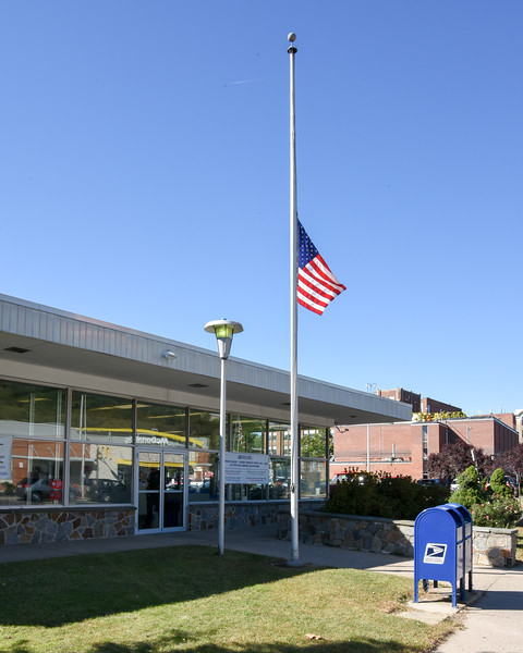 10/02/17  Wesley Bunnell   Staff  In response to the Las Vegas shootings the flag flies at half staff on Monday outside of the Bristol Post Office on North Main St.