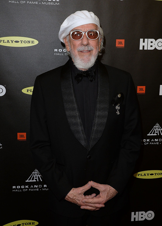 . Honoree Lou Adler arrives at the 28th Annual Rock and Roll Hall of Fame Induction Ceremony at Nokia Theatre L.A. Live on April 18, 2013 in Los Angeles, California.  (Photo by Jason Merritt/Getty Images)