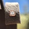 .52ctw Asscher Cut Diamond Bezel Stud Earrings, 18kt Rose Gold 20
