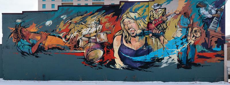 Mural on CJ's Bar