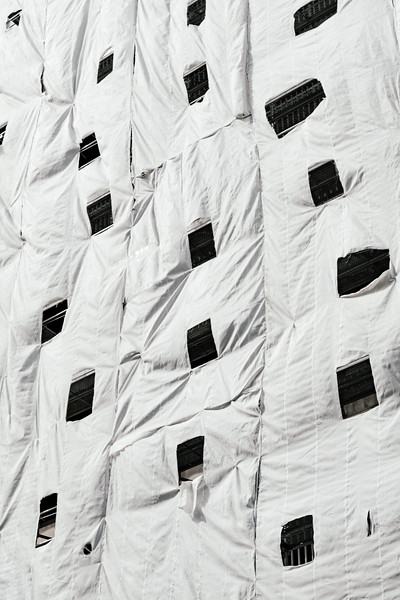 Scaffolding fabric detail
