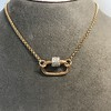 Marla Aaron Stoned Lock for Jewels by Grace Exclusive, Rose Gold 7
