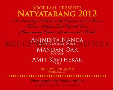 SoorTaal Presents NATYATARANG 2012 ~ Anindita Nanda, Mandan Oak, Amit Kavthekar ~ Danbury, CT ~ June 16, 2012