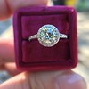 1.19ctw Old European Cut Diamond Halo Ring by A Jaffe 19