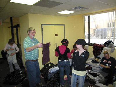 Youth Group Clothing Sorting