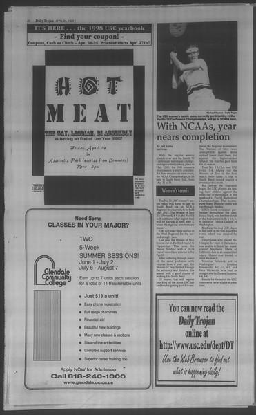 Daily Trojan, Vol. 133, No. 66, April 24, 1998