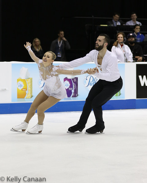 Ashley Cain and partner Tim LeDuc finished 3rd in the pairs' event.