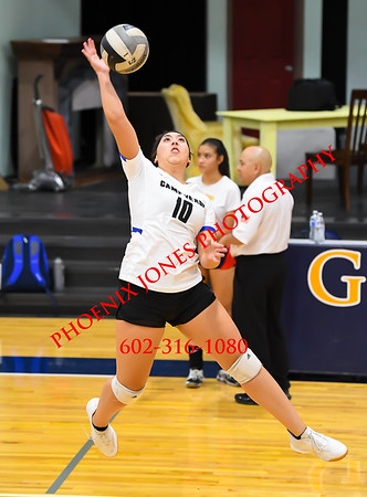 10-8-19 - Camp Verde v Glendale Prep - Volleyball