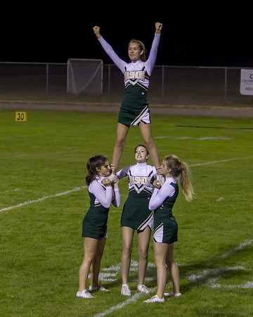 Set three: Vashon Island High School Fall Cheer halftime show at Football v Concrete 09/15/2017