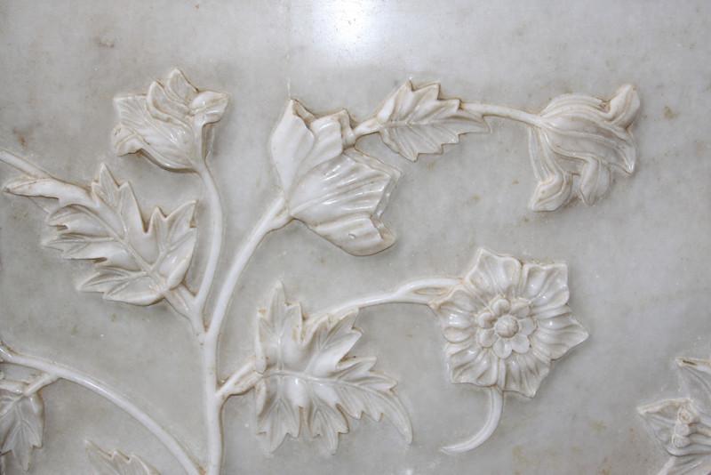 Taj Mahal detail of marble