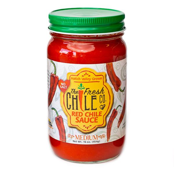 Fresh Chile Company - Hatch Valley Grown - 16 oz Jar - No Salt Red Sauce - Medium.jpg