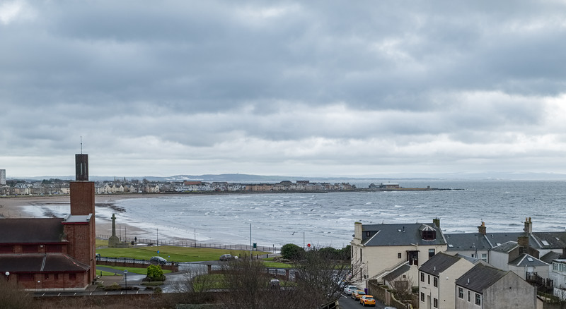 Saltcoats harbour from canon Hill Ardrossan Scotland.